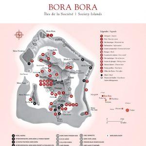 Bora Bora Map  © Tahiti Tourism