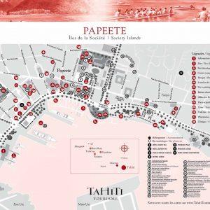 Papeete Map © Tahiti Tourism